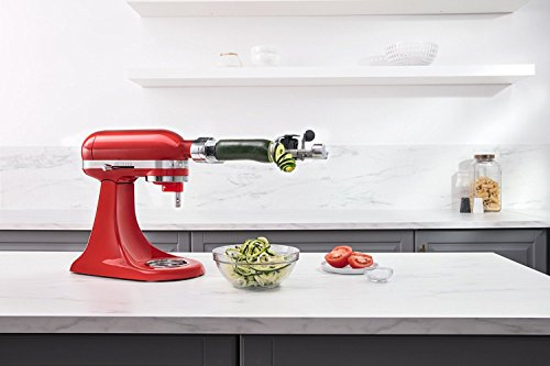 Product Image 4: KitchenAid Spiralizer Plus Attachment with Peel, Core and Slice, Silver