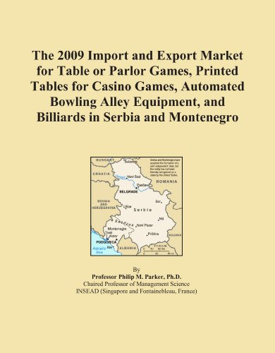 The 2009 Import and Export Market for Table or Parlor Games, Printed Tables for Casino Games, Automated Bowling Alley Equipment, and Billiards in Serbia and Montenegro