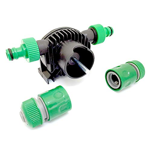 Heavy Duty Drill Powered Water Pump with Connectors - 3 Year Warranty