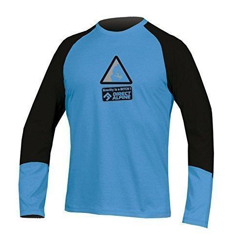 Directalpine shirt met lange mouwen Long Crack met outdoor motief (Gravity), kleur blauw/zwart