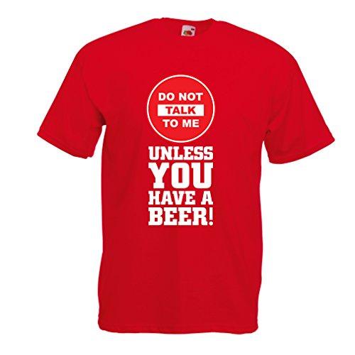Männer T-Shirt Bier-Liebhaber-Zitate! Álcohol Lustige Geschenk-Ideen, Kleidung für Party, Trink-Shirts, Kneipe, Bar Sagen (X-Large Rot Mehrfarben)