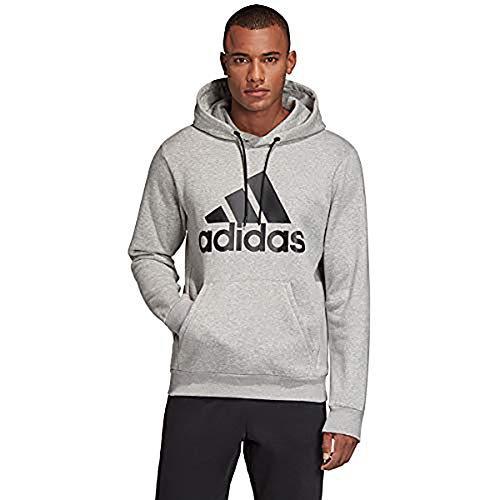 adidas Men's Must Haves Badge of Sport Pullover French Terry Black/White X-Large
