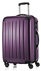MAIN CITIES - Alex - 4 Double-Rolling Hard Case Trolley Trolley Trolley, 65 cm, 74 L, Eggplant