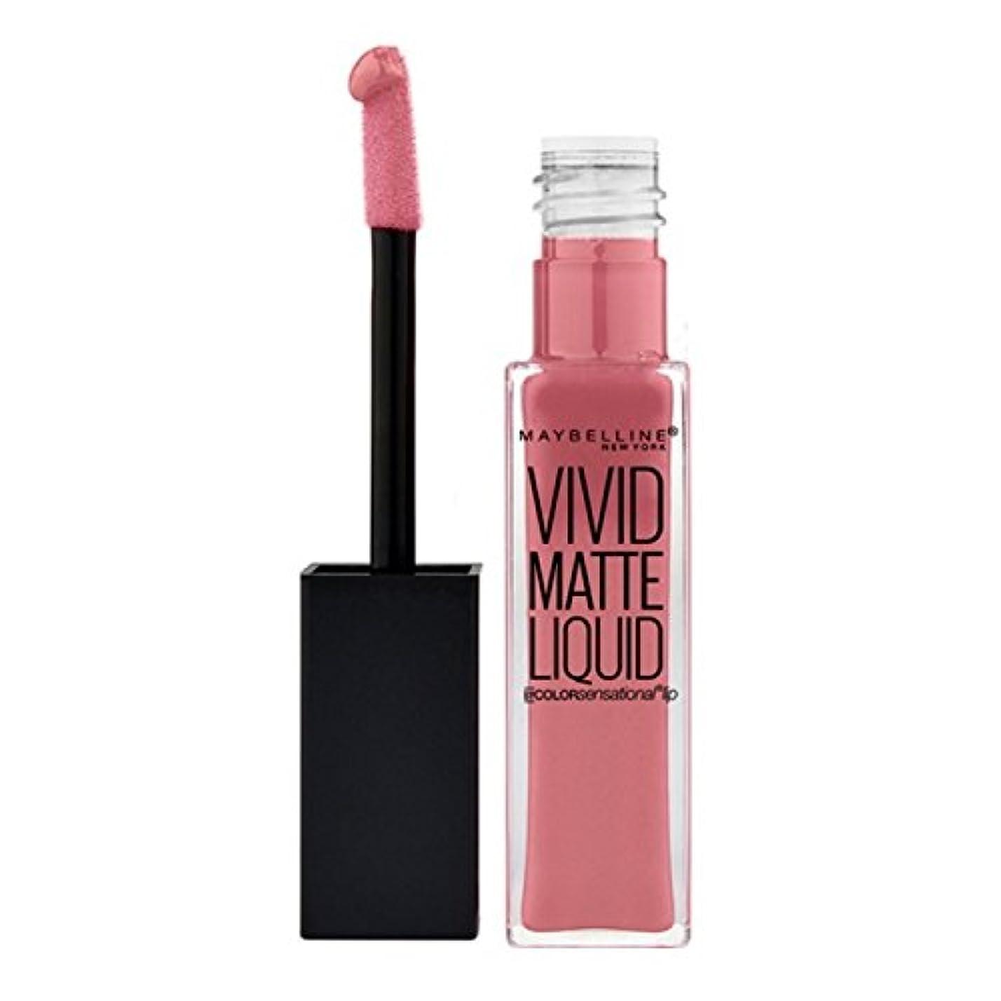 みなす唇コース(3 Pack) MAYBELLINE Vivid Matte Liquid - Nude Flush (並行輸入品)