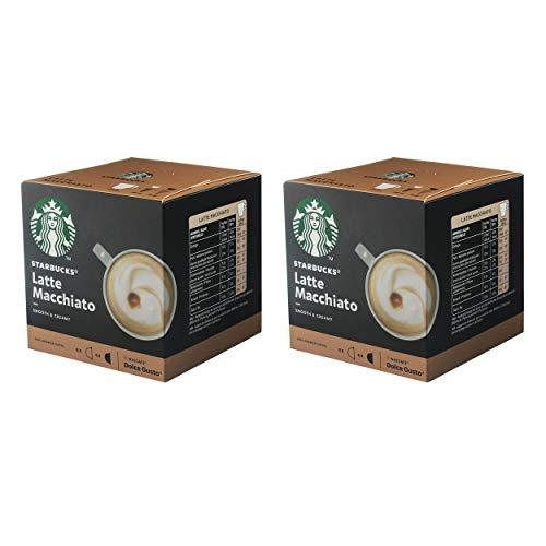 Starbucks Nescafé Dolce Gusto Latte Macchiato - Juego de 2 cápsulas de café, 2 x 12 cápsulas