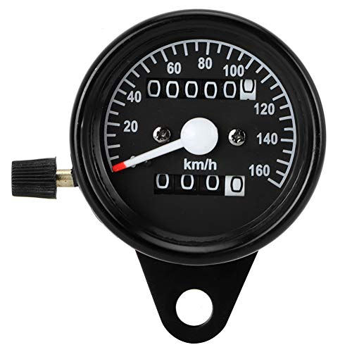 Cuentakilómetros velocímetro, medidor de velocímetro de cuentakilómetros de función dual universal para motocicleta de 12 V con retroiluminación 0-160 km/h