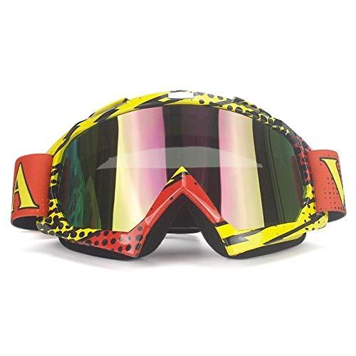 Yiph-Sunglass Sonnenbrillen Mode Langlaufski Brille Anti-Impact Augenschutz Schutzbrille Motorradbrille Zubehör (Color : NO.3)