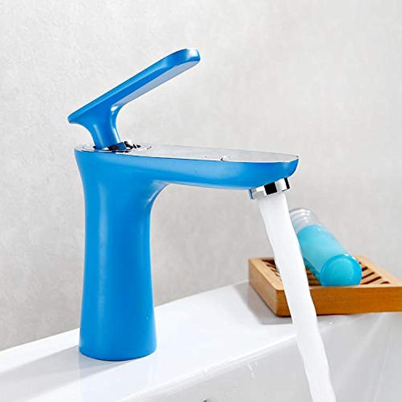 Wasserhahn Waschtischarmatur Kupferfarbe Toilette Wasserhahn Badezimmer Badezimmer Unter Aufsatzbecken Einhandgriff Doppelter Kontrolle Warm Und Kalt Wasserhahn Blau