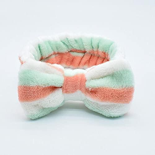 tubc Big Rabbit Ears Coral Fleece Soft Elastic Hairbands SPA Baño Ducha Maquillaje Wash Face Diadema Banda para el Cabello Niñas Accesorios para el Cabello 12