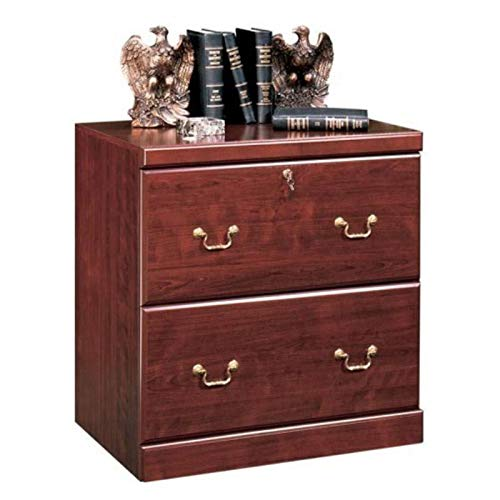 Pemberly Row Traditional Wood 2 Drawer Lateral File Cabinet in Classic Cherry