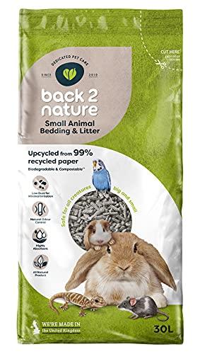Back-2-Nature Couchage/Litière pour Petit Animal 30 L
