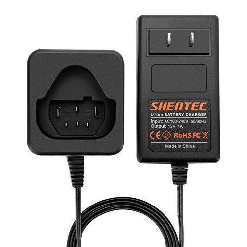 Shentec 12V Li-ion Cargador de batería de litio de Compatible con AEG L1215 L1215P L1215R R86048 BLL12C BS12C BS12C2 BSS12C BWS12 BWS12CBWS