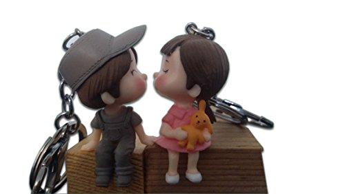 Pärchen-Schlüsselanhänger, Schlüsselring, Design romantische Liebhaber, Geschenk zum Valentinstag, Hochzeitstag, für Freundin, Freund