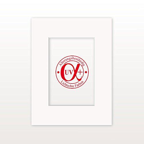"""Passepartout """"MontBlanc18"""" - Außen: 50 x 70 - Für Bildgröße 30 x 45 - Museumsqualität"""