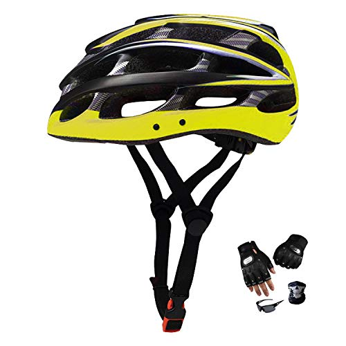 YYYY Outdoor Mountain Bike Helmet, Comfortable and Breathable, One-Piece, Adjustable, Lightweight Roller Skating Mountain Bike Riding Equipment (56-61 cm) 3-M