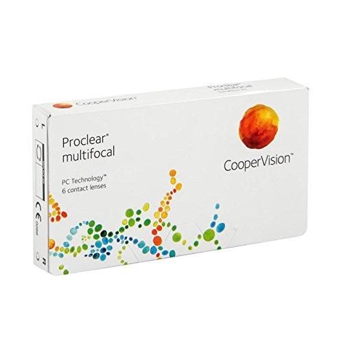 Proclear Lentes de contacto multifocales mensuales, R 8.7, D 14.4, 4.5 dioptría, adición 1.5, no dominante - 6 lentillas