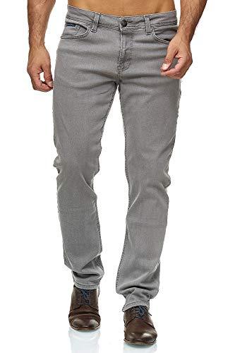 BARBONS Herren Jeans - Bügelleicht - Regular-Fit Stretch - Business Freizeit - Hochwertige Jeans-Hose 06-hellgrau 42W / 34L
