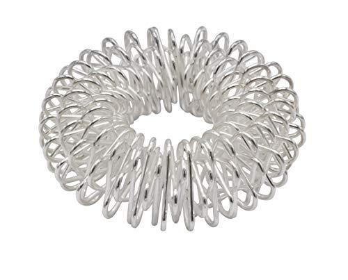 Yin Yang reflexzones stimulatie- & massage ring voor vingers & tenen, zilver groot