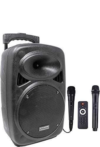 Oferta de DYNASONIC - Dynapro8 TWS - Altavoz Inalámbrico Sistema Audio Profesional Megafonia Portátil | Tecnología TWS Lector USB Bluetooth Radio FM y Micrófonos, Color Negro 8 Pulgadas …
