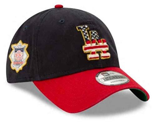 New Era 2019 MLB Los Angeles Dodgers July 4th Flag Logo Baseball Cap Hat 9Twenty Navy/Red