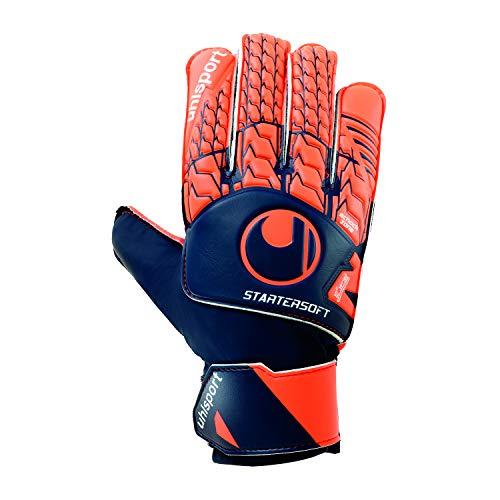 uhlsport Torwart-Handschuhe Next Level Starter Soft, Marine/Fluo rot, 8, 101110701