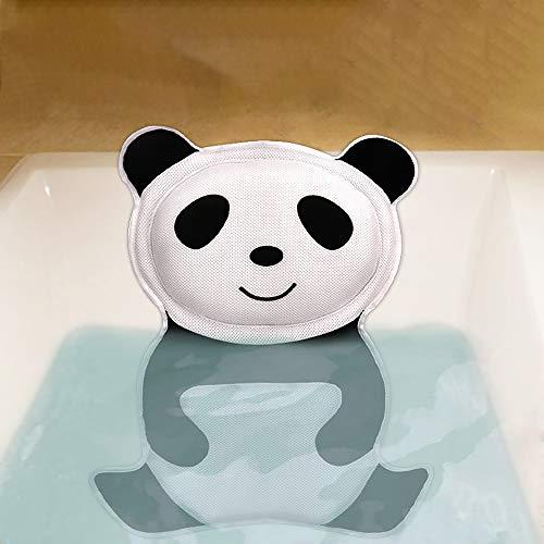 Yajun Almohada de Baño Panda Cojín Suave para el Cuello Reposacabezas de Bañera con Ventosa Accesorios Creativos para Todos Tipos de Baño