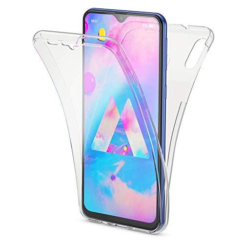 NALIA 360 Grad Handyhülle kompatibel mit Samsung Galaxy M20 2019, Dünne Full-Body Silikon Hülle R&um Cover Hülle, Ultra-Slim Phone Schutzhülle Handy-Tasche Komplett-Schutz Etui, Farbe:Transparent