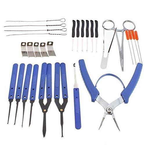 GBENJOY Kit de extracción de llaves dañadas, juego de 24 extractores de llaves rotas, kit de extracción de llaves dañadas, herramienta de cerrajería Home Depot