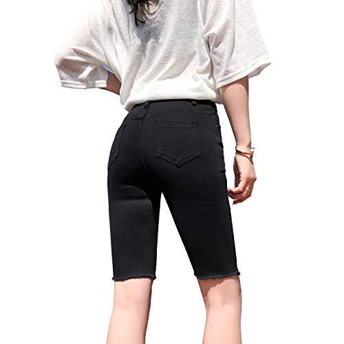 Lazutom Pantalon de cyclisme pour femme Taille haute - Noir - 38