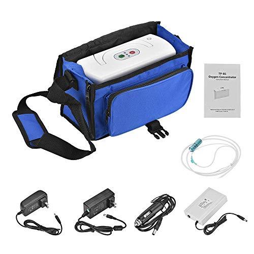 HJGB ℙor𝐭a𝐛le 𝕆𝐱𝘺𝐠𝘦𝘯 ℂ𝐨𝐧𝐜𝐞nt𝙧a𝙩or 𝕄𝐚ch𝐢ne for Travel Use with Car Adapter and 2200mah Power Bank,3L/min
