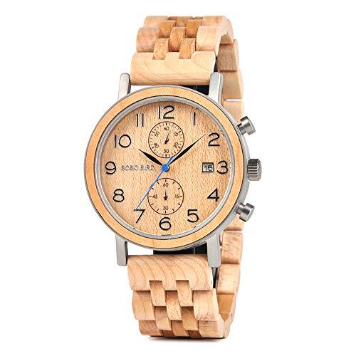 BOBO BIRDメンズ 竹 木製腕時計 日本製 クオーツ 竹製 腕時計 軽量 カジュアル 人気な天然木 竹製腕時計 贈り物 お土産