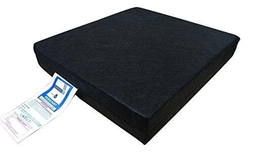 clicktostyle Memory Foam Druckentlastung Kissen Stuhl Sitz Pad 45,7x 40,6x 7,6cm für Rollstuhl Auto Sitz Pad Garten Stuhl Sofa Sonnenliege mit abnehmbarer Bezug
