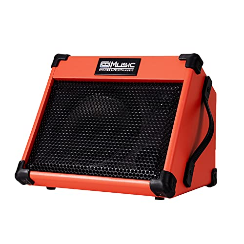 Coolmusic AC20 Amplificateur de guitare acoustique, ampli portable de 20 watts pour guitare acoustique avec Bluetooth, 2 canaux