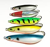 Fishing Lures - 5 Pieces Rattling Minnow Spoon Fishing Lure 8.5cm 20g Freshwater Saltwater Weedless Crankbait Snapper Winter Ice Fish Bait