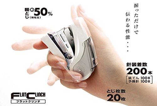 "Max ""SAKURI FLAT"" Stapler (Flat Clinch) [White] [Japan Import] Photo #5"