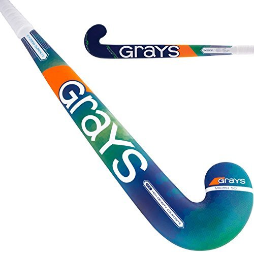 GRAYS GX2000 Superlight Field Hockey Stick Bundle with Free Chamois Grip (35 Inches)