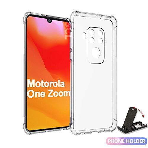 SCL Hülle Für Moto One Zoom Hülle Motorola One Zoom, Hülle-Kristallklarer Anti-Kratzer Weiche TPU Coverhülle für Moto One Zoom, Ultra klar