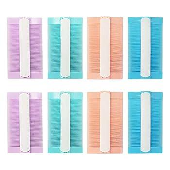 Lot de 8 peignes à poux 4 couleurs pour enfants, adultes, animaux de compagnie, traitement des poux en plastique double face