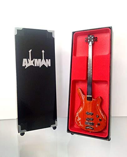Miniature Guitar replica: jack Bruce pollice Bass–modello Mini Rock memorabilia replica in miniatura in legno Bass & Free espositore (venditore UK)