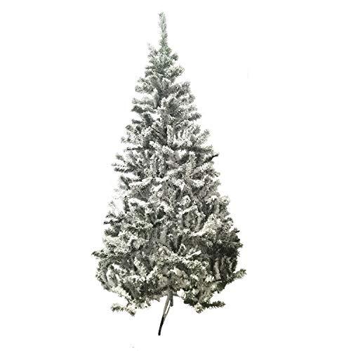 Toilinux Sapin de Noël enneigé Oslo - H. 210 cm - Blanc