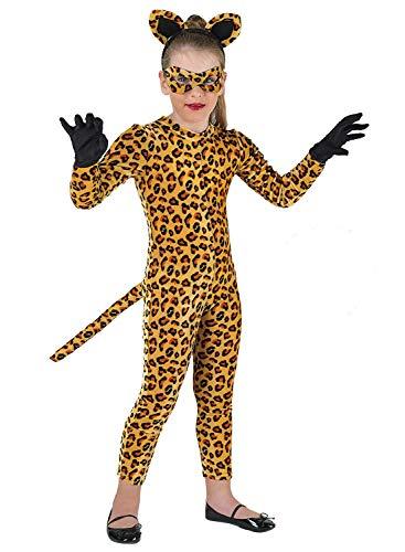 chiber - Tiger Kostüm für Mädchen (6-8 Jahre)