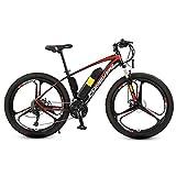 AISHFP 26 Pulgadas de montaña Adultos de Bicicletas eléctricas, Bicicletas 36V batería de Litio 250W eléctricos, Velocidad aleación de Aluminio de 27 Off-Road Bicicleta eléctrica,12AH