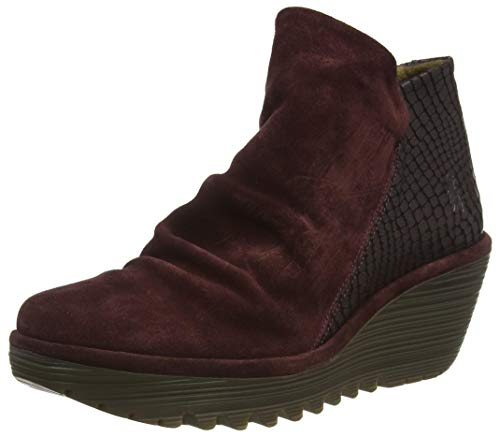 FLY LONDON Damen YIP Stiefelette, Wine, 42 EU