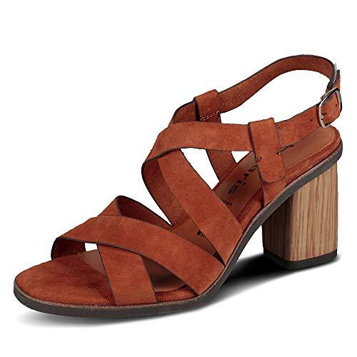 TAMARIS Damen 1-1-28345-24 311 Sandale mit Absatz, Braun, 40 M EU