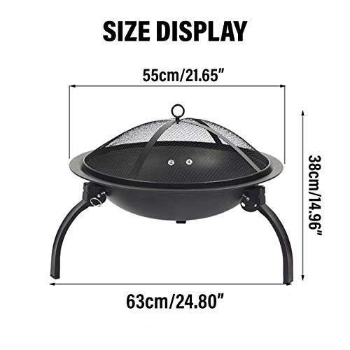41JK3zd 5YL - X&JJ Tragbare BBQ Grill, Feuerstelle Herd japanische Art-Aluminiumlegierung Charcoal Grill Grill Zubehör Barbecue-Ofen