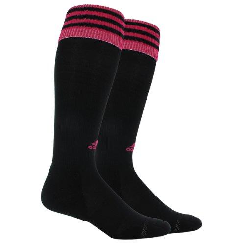 adidas Copa Calcetines de cojín de Zona, Mujer niña Niños Hombre, Color Black/Blast Pink, tamaño Small Fits Youth Shoe Size 13C-4Y