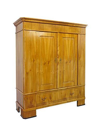 Biedermeier Schrank um 1860 | Kleiderschrank aus Kirschbaum furniert | Antiker Dielenschrank zerlegbar (9500)