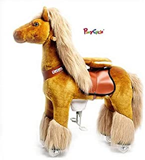 Pony Beyond Shop Ponycycle Cycle Ride On Horse No Need Battery No Electric Just Walking Horse ACE The Winner - Size Medium for 4 to 10 Years Old