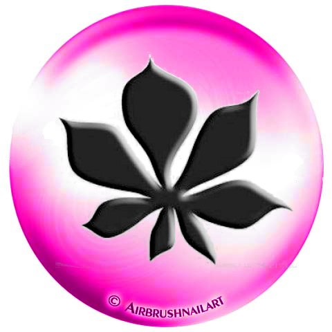 1 vel Airbrush-sjablonen/lak-sjablonen, zelfklevend: #20-283 kastbladeren, bloeien, herfst