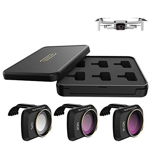 Lens Filter Set CPL ND8 ND16 for DJI Mavic Mini Drone 3pcs Lens Filter Set Multi Coated Filters Combo Camera Lens